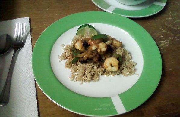 Thai Curry Shrimp with Roasted Eggplant