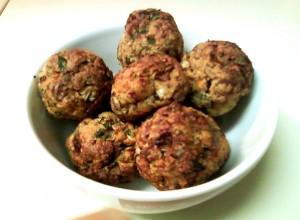 Turkey Meatballs: Cooked