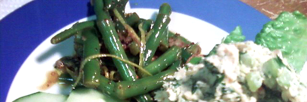 Mustard Vinaigrette Green Beans
