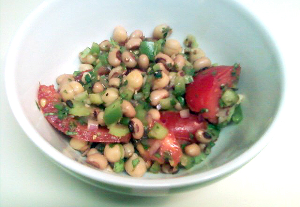 Black-eye and Chickpea Pea Salad
