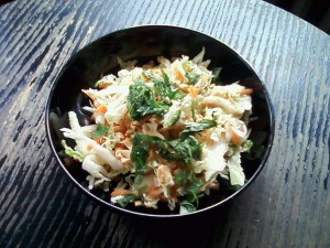 Asian Carrot Cabbage Salad with Peanuts