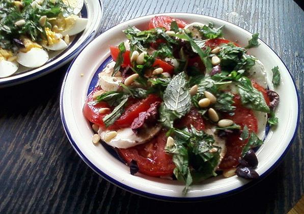 Tomatoes, Fresh Mozzarella and Basil Salad