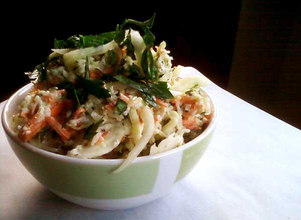 Zucchini Fennel Coleslaw