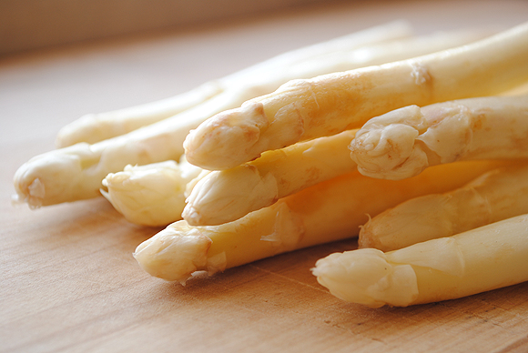 Delicate White Asparagus