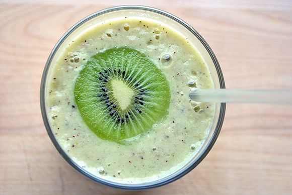 Smoothie No. 15: Rhubarb and Kiwi with Coconut Water