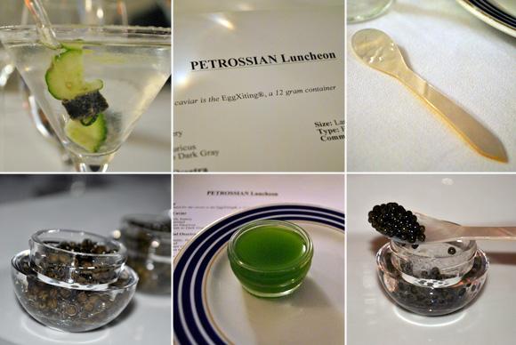 Caviar tasting at Petrossian Restaurant