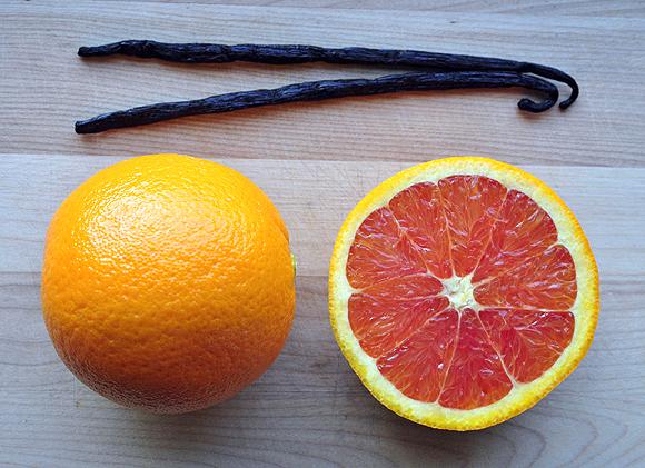 Vanilla Beans and Cara Cara Oranges