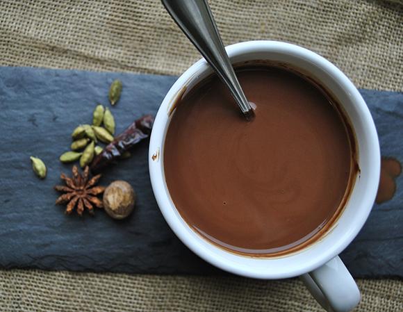 Hot Spiced Coconut Chocolate Milk