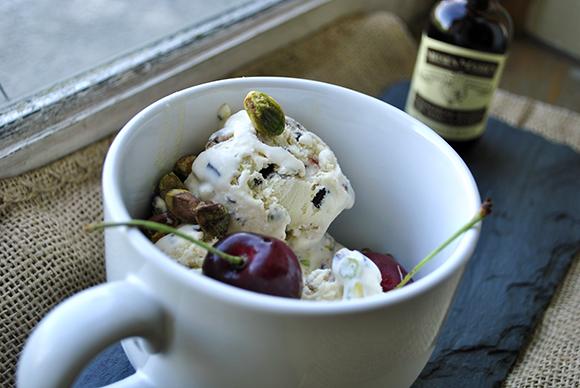 Very Vanilla Cherry Pistachio and Chocolate Chip Ice Cream