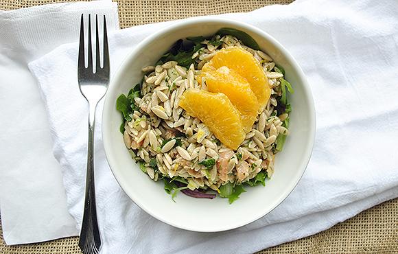 Citrus Orzo Salad with Smoked Salmon