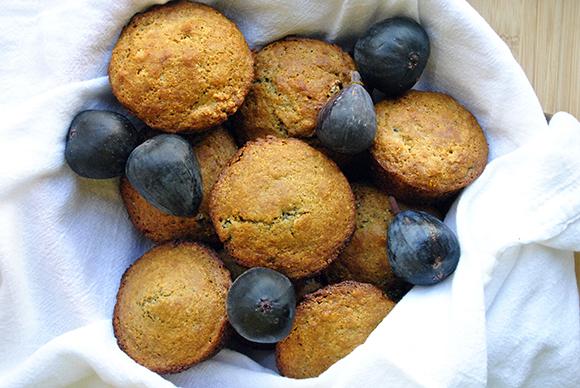 Honey Fig Cornmeal Muffins