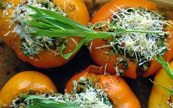 Freekeh Stuffed Heirloom Tomatoes