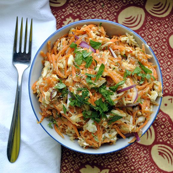 Haitian Carrot Crab Salad