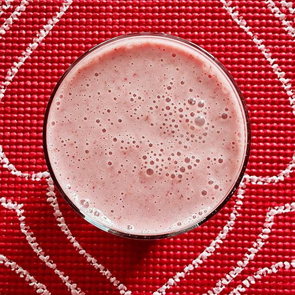 Rosewater Strawberry Milkshake Smoothie